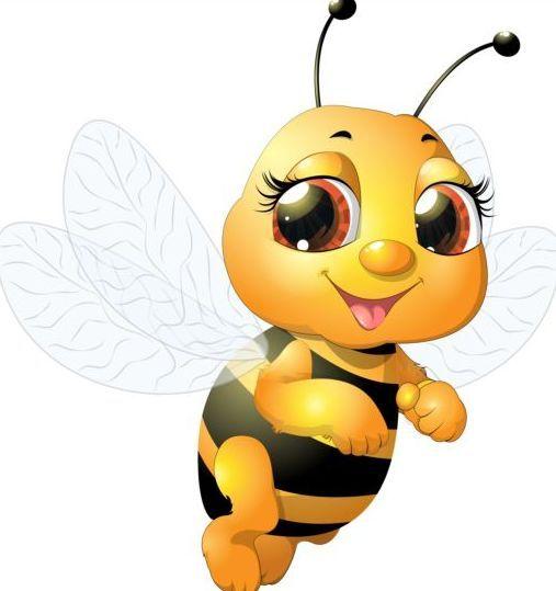 lovely cartoon bee set vectors 01