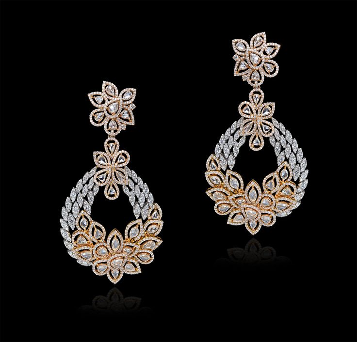 Dazzaling #floral #baubles in #rose tones and #diamonds by #MaheshNotandass