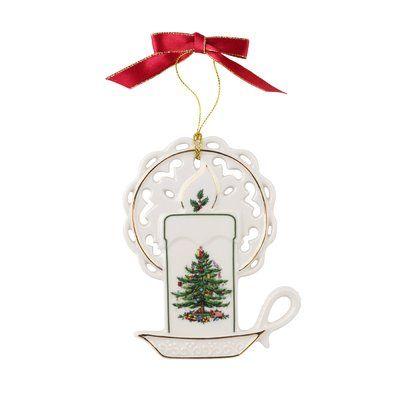 Spode Christmas Tree Candle Shaped Ornament christmas Pinterest