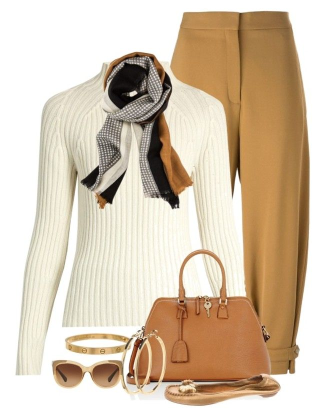 """""""Sweater Weather"""" by terry-tlc ❤ liked on Polyvore featuring STELLA McCARTNEY, Brock Collection, Maison Margiela, Cartier, Pieces and Coach"""