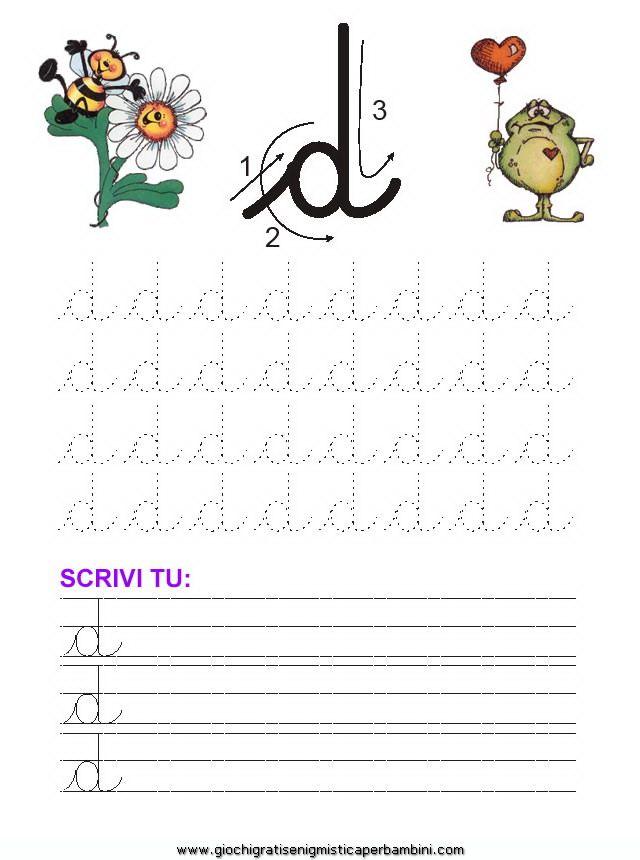 14_grafia_lettera_d Schede didattiche impara a scrivere le lettere