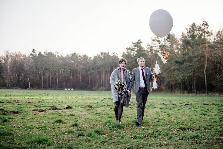 winter wedding - bridal couple - fotografie verena anne ahrens