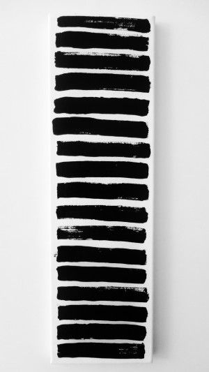 Original Modern Painting Black and White Abstract Art Painting OOAK Minimalist  – s t a i r s