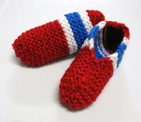 Voici mon modèle de pantoufles des Canadiens de Montréal ! Pour qu'elles soient plus durables, je les ai tricotées avec le fil en double et j'ai utilisé du Phentex mais ce n'est pas indispensable. ...
