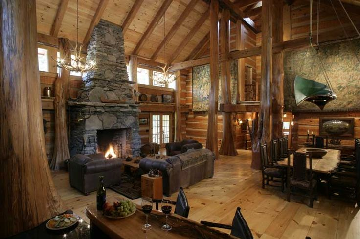 7 best front porch posts images on pinterest front porch for Luxury log cabin builders
