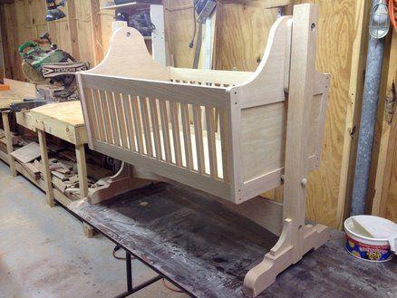 Oak baby cradle #3