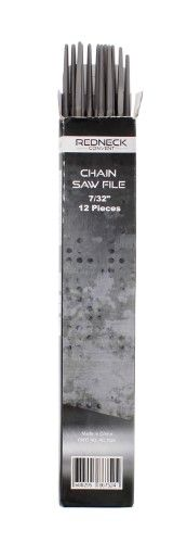 """Redneck Convent Chainsaw Files - 7/32"""" Inch, High Strength Durable Sharpeners (Pack of 12), Silver"""