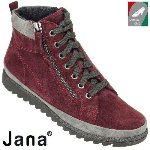 Jana női bőr bokacipő 8-25207-29 549 bordó