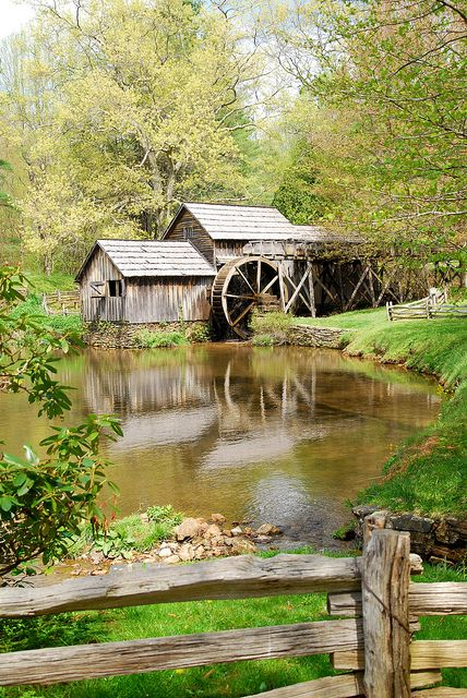 Mabry Mill, VA~Beautiful.  I've seen so many pictures of this and I even painted one.
