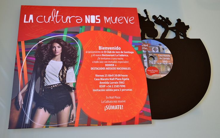 Invitación Vinilo Mall Plaza