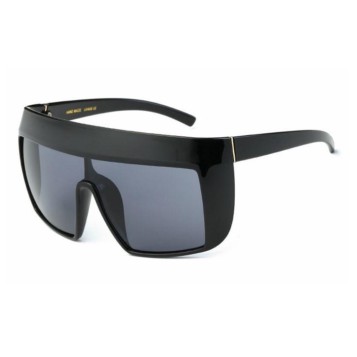 2017 New Sunglasses Oversize women sunglasses Large frame reflective Sunglasses Wind Men Sun Glasses Retro square sunglasses
