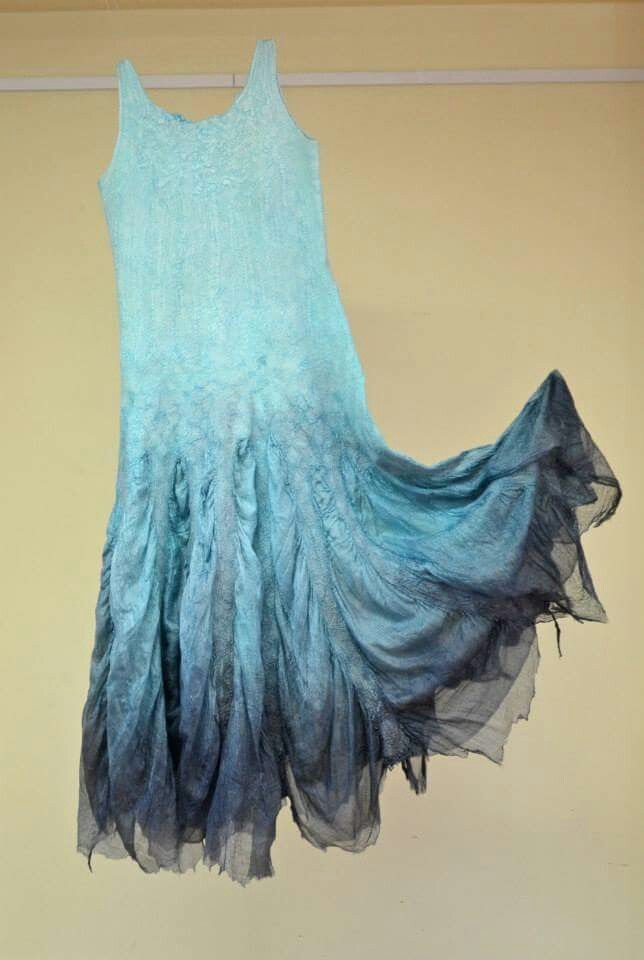 Delicate felted dress....