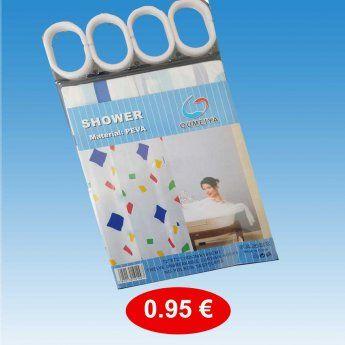 Κουρτίνα μπάνιου 183Χ183 εκ. 0,95 €-Ευρω