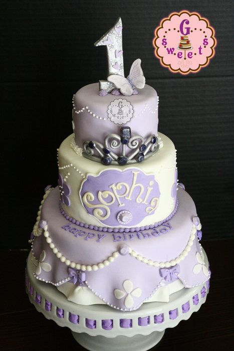 A cake for Sophia… on her 1st birthday, based on the lovable cartoon show, Sofia The First!