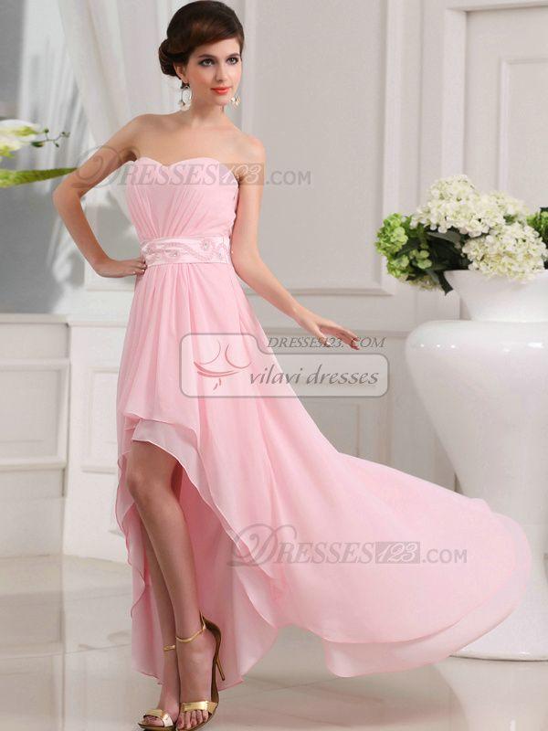 100% Tailor-Made Beautiful A-line Chiffon Sweetheart Asymmetrical Train Prom Dresses, Free Shipping Price: US $ 129.99 - VILAVI Dresses http://de.dresses123.com/beautiful-a-line-chiffon-sweetheart-asymmetrical-train-prom-dresses-p-1631.html