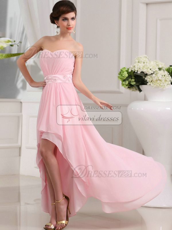 100% Tailor-Made Beautiful A-line Chiffon Sweetheart Asymmetrical Train Prom Dresses, Free Shipping Price: US $ 129.99 - VILAVI Dresses http://de.dresses123.com/beautiful-a-line-chiffon-sweetheart-asymmetrical-train-prom-dresses-p-1631.html