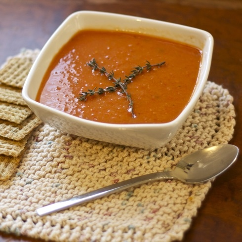 roasted eggplant and pepper soup | Soup n Sandwiches | Pinterest