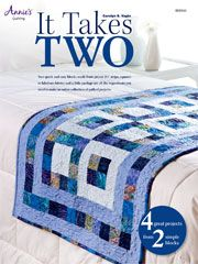 """Technique - Quilt It only takes 2 easy blocks to make any of these 4 projects!  Once you master these 2 easy blocks, just follow the placement instructions for each project. This Jelly Roll friendly patterns makes the cutting easy and the projects fast-moving.  Bed runner: 28"""" x 76"""" Table runner: 20"""" x 50"""" Place mats: 18 1/2"""" x 18 1/2"""" Hot pads: 10 1/2"""" x 10 1/2"""""""