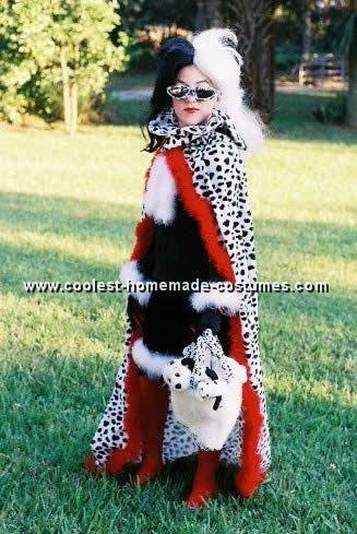 Coolest Homemade 101 Dalmatians And Cruella Deville Costume Ideas Costumes