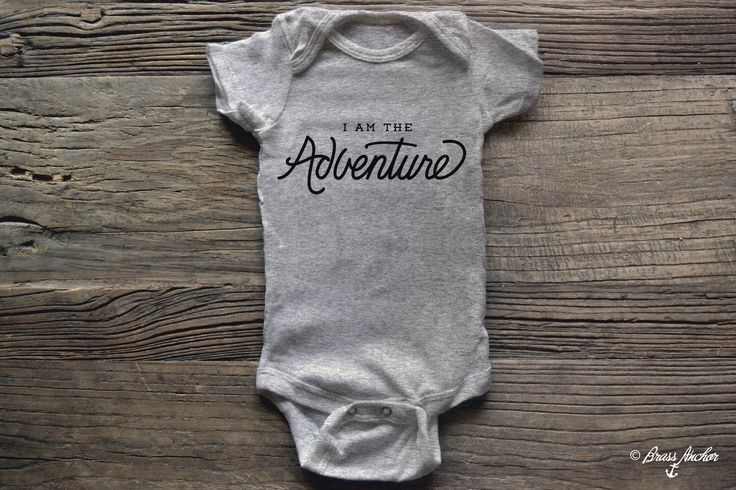 I am the Adventure Baby Onesie Bodysuit. Kid, Baby Shower, Announcement, Outfit, Hiking, Outdoors, Unique, one of a kind, travel by BrassAnchor on Etsy https://www.etsy.com/listing/254849156/i-am-the-adventure-baby-onesie-bodysuit