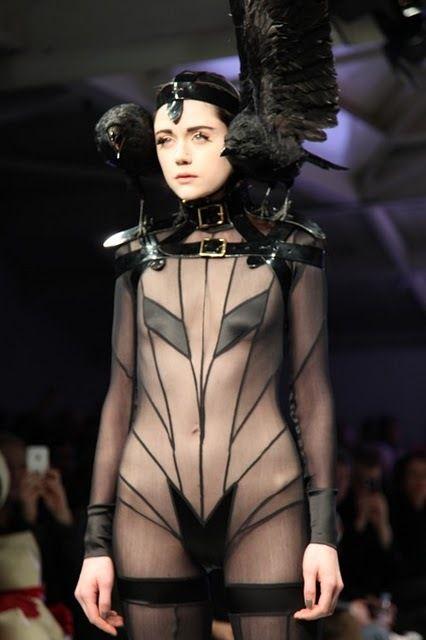 Futuristic fashion... or creepy Halloween!