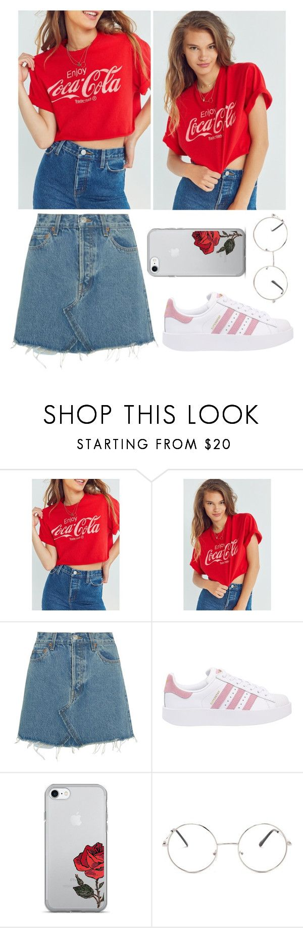 """Senza titolo #516"" by mariapiamatt ❤ liked on Polyvore featuring Junk Food Clothing, RE/DONE, adidas Originals and Nasty Gal"