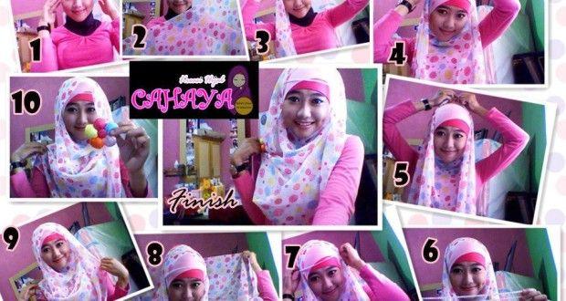 Cara Berhijab Pasmina Sifon   Cara Hijab