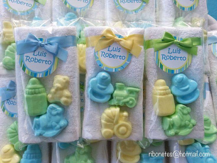 Toalla facial y jaboncitos... Baby shower