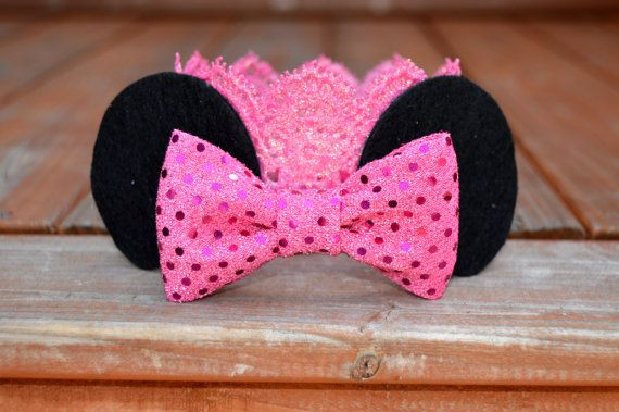 Minnie Mouse Crown - Large Glitter Lace Crown - Birthday - Photo Prop - Princess - Queen - Costume - Red Sequins