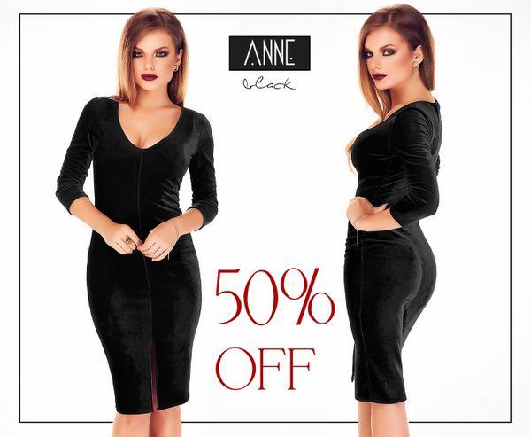 Little black velvet dress with 50% off discount: https://missgrey.org/en/dresses/black-velvet-midi-dress-anne/439?utm_campaign=martie&utm_medium=anne_neagra_reducere&utm_source=pinterest_produs