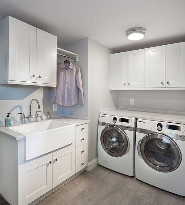 Modern clean lined laundry room Organize Your Laundry Room In Style