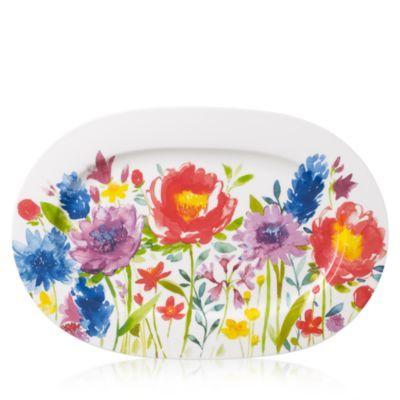 Villeroy & Boch Anmut Flowers Oval Platter | Bloomingdale's