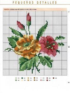 ramos de flores en punto de cruz - Buscar con Google