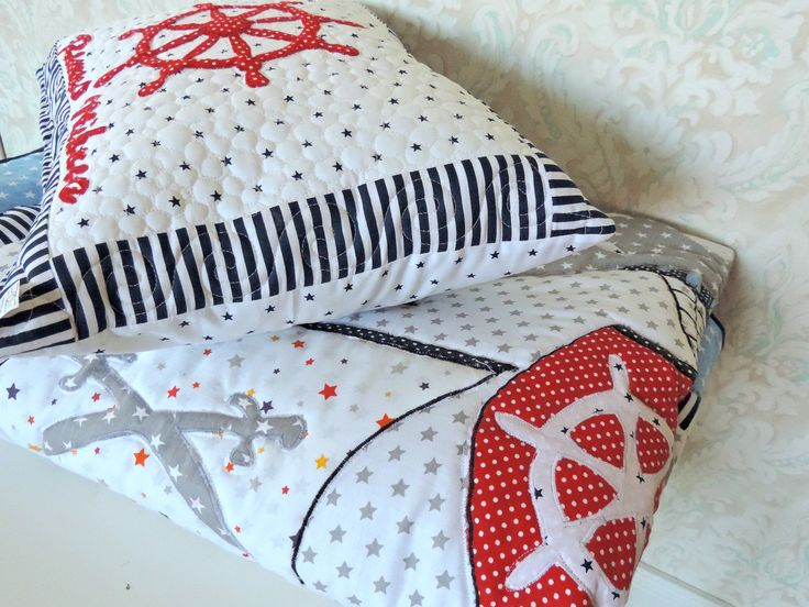 Your boy will adore this Modern Nautical Personalised Quilt, Modern Pirates Quilt and Decorative Pillow.Personalise it with your child's name. Order here: https://www.etsy.com/listing/471748588/personalised-gift-for-boy-boy-nautical?ref=shop_home_active_13