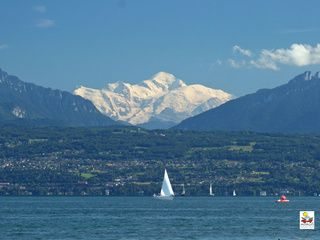 Morges, Switzerland - with a view at Mont Blanc over the lake of Genève © MRT/Marc Beartsch