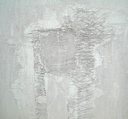 STRUKTURY TICHA II.  STRUCTURE OF SILENCE II. - kombinovaná technika na sololitu - mixed media on hardboard 60 x 60 cm