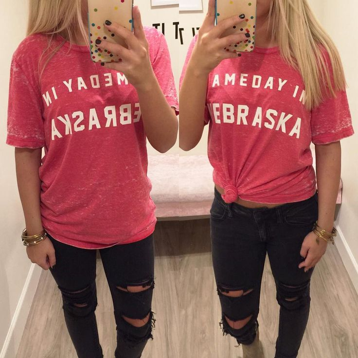 Do you have a Husker fan you need to Christmas shop for? Our favorite Gameday in NEBRASKA Tee {$42} is perfect!  Available In-store and Online! Call/Text to Order at 402.884.6399 #xoxofoursisters #shopfsonline #huskers #GBR #nebraska #gameday #huskergear #gobigred