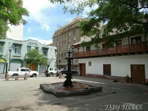 plaza del corregidor.barrio bellas artes .santiago