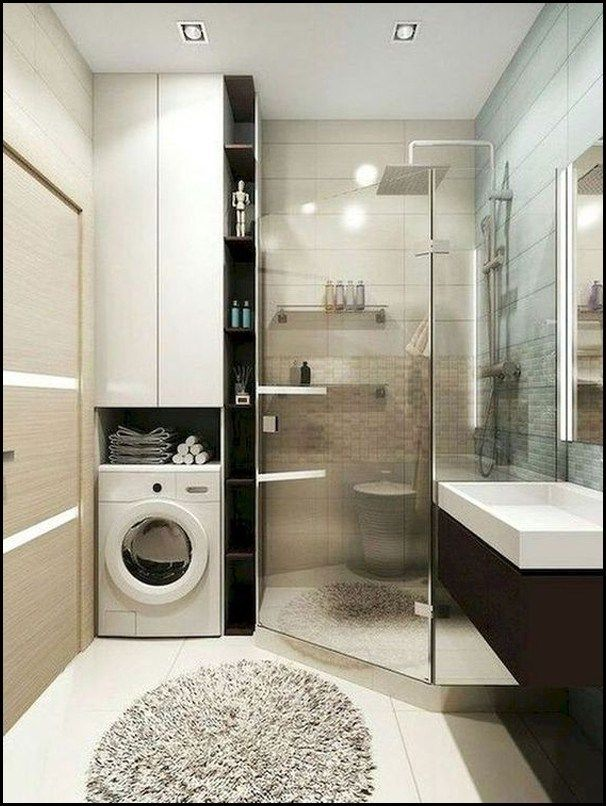 9 Ideas Laundry Room In 2020 Small Bathroom Layout Small Bathroom Makeover Bathroom Interior Design
