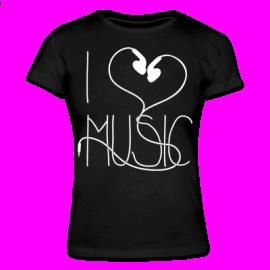 I Love Music Women´s T-Shirt