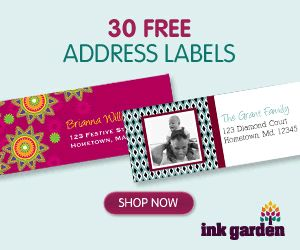 30 FREE Address Labels for your Holiday Cards!
