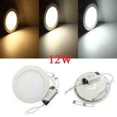 #Banggood 12w круглые потолочные ультратонкие панели LED светильники лампы свет 85-265в (923216) #SuperDeals