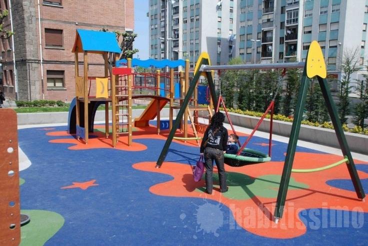 Parques infantiles con color y muy  originales.