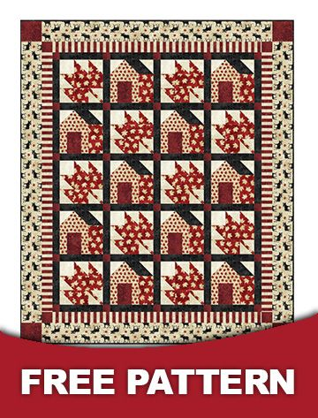 Northcott, free pattern for Oh CANADA collection quilt, I like it!