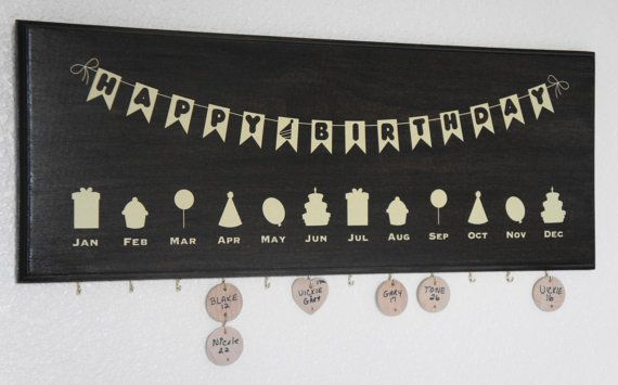 Family Happy Birthday Calendar Plaque with 1 1/2 by Frameyourstory, $69.95