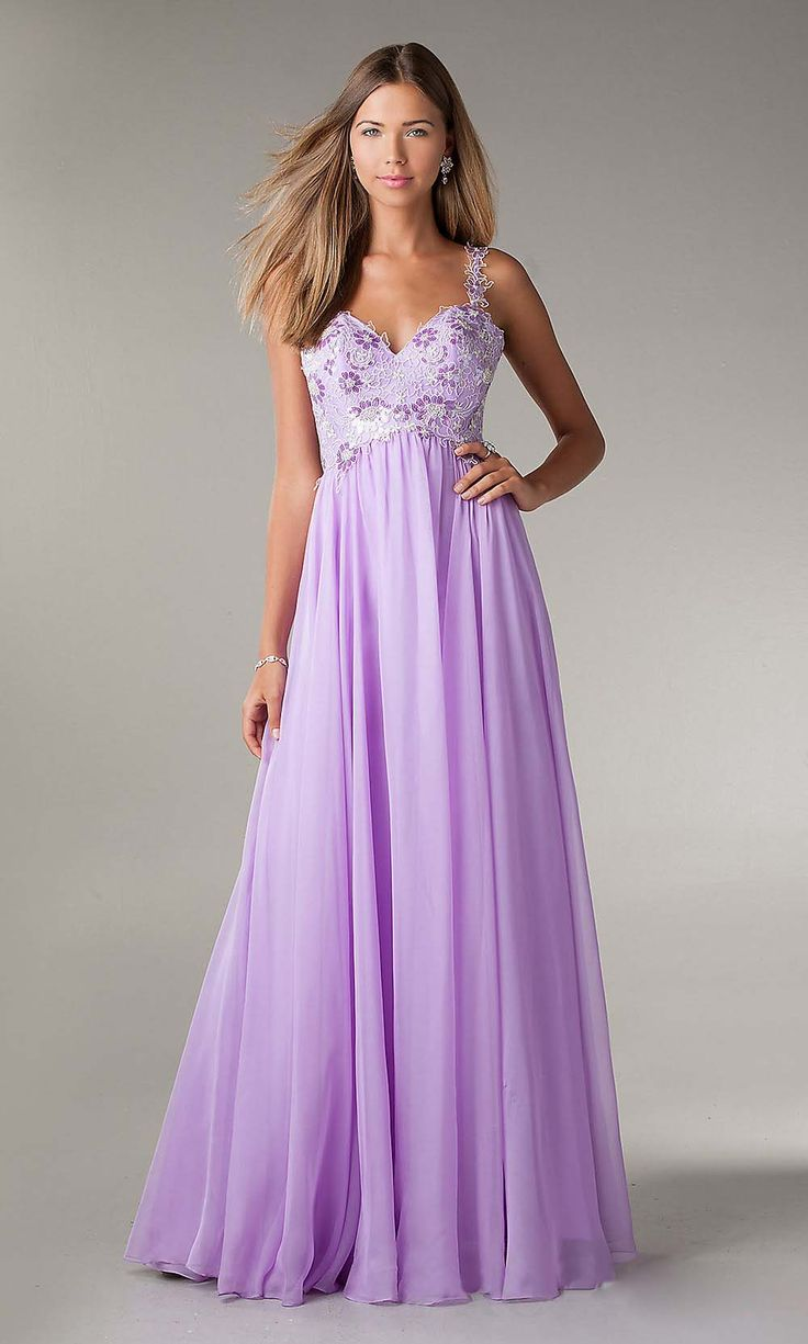 Beautiful prom dress lavender prom dress chiffon prom for Cheap wedding dress for sale