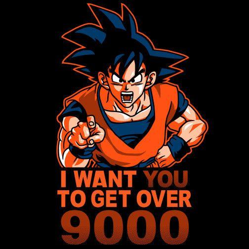 Get Over 9000 T-Shirt $12 Dragon Ball Z tee at Weekly Shirts!