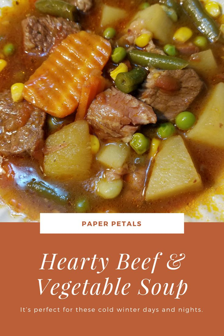 We are in the thick of winter, so I decided to make my awesome hearty beef and vegetable soup. It's perfect for these cold winter days and nights. And if you are wanting to stay in budget, it's a great way to do that. Just freeze the leftovers and they will be ready for another cold night. #beefvegetablesoup #beef #vegetable #soup #hearty