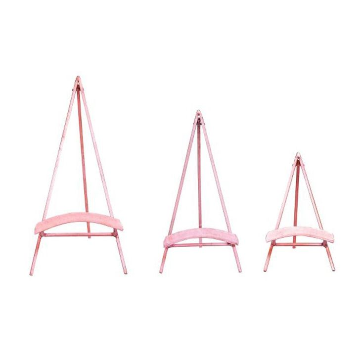 Benzara Copper-colored Metal Easel (Pack of 3) (Copper (Brown))