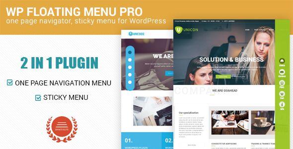WP Floating Menu Pro v1.0.1  One page navigator sticky menu  Blogger Template